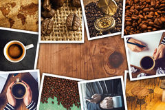 De collage van de koffiefoto Royalty-vrije Stock Foto