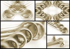 De collage van de moersleutel Stock Afbeeldingen