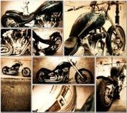 De collage van de motorfiets royalty-vrije stock foto