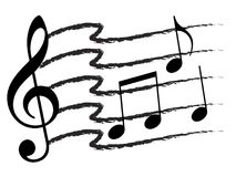 De Collage van de Nota van de muziek royalty-vrije stock fotografie