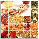 De Collage van de pizza Royalty-vrije Stock Fotografie