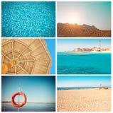 De collage van de reis Stock Foto's