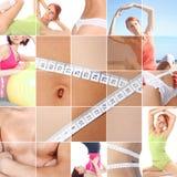 De collage van de sport Stock Afbeeldingen