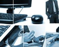De collage van de technologie Stock Foto's
