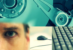 De collage van de technologie Royalty-vrije Stock Afbeeldingen