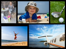 De collage van de vakantie Royalty-vrije Stock Afbeelding