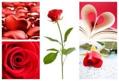 De collage van de valentijnskaart Royalty-vrije Stock Foto's