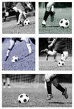 De collage van de voetbal Royalty-vrije Stock Fotografie