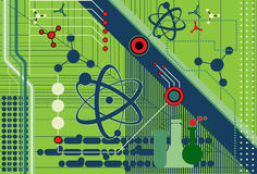 De collage van de wetenschap en van de Technologie Royalty-vrije Stock Afbeeldingen