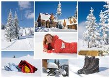 De collage van de winter stock afbeeldingen