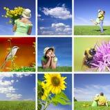 De collage van de zomer Stock Fotografie