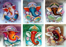 De collage van Ganesh Stock Foto's