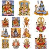 De collage van goden royalty-vrije stock foto