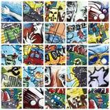 De collage van Graffiti royalty-vrije stock afbeelding