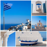 De collage van Griekenland stock foto's