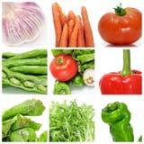De collage van groenten Royalty-vrije Stock Afbeeldingen