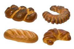 De collage van het brood Stock Afbeelding