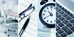 De Collage van het Concept van het bureau Stock Foto