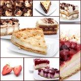 De Collage van het dessert Stock Foto's