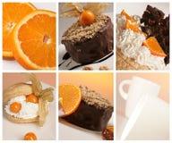 De collage van het dessert Stock Foto