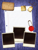 De Collage van het document Royalty-vrije Stock Afbeelding