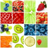 De collage van het fruit Stock Fotografie