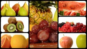 De Collage van het fruit stock video