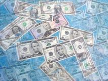 De Collage van het geld Stock Fotografie