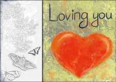 De collage van het hart Stock Afbeelding