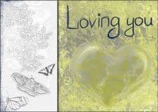 De collage van het hart Stock Afbeeldingen
