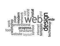 De collage van het het ontwerpwoord van het Web stock illustratie