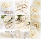 De collage van het huwelijk Stock Afbeelding