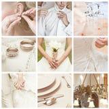 De collage van het huwelijk stock foto