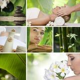 De collage van het kuuroord Royalty-vrije Stock Fotografie