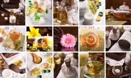 De collage van het kuuroord Royalty-vrije Stock Afbeeldingen