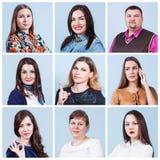 De collage van het mensenportret Stock Afbeeldingen