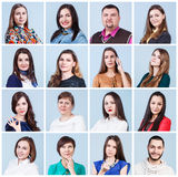 De collage van het mensenportret Stock Afbeelding