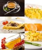 De collage van het ontbijt Royalty-vrije Stock Afbeelding