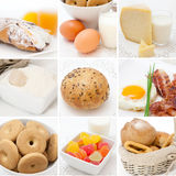 De collage van het ontbijt Stock Foto