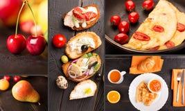 De collage van het ontbijtvoedsel Royalty-vrije Stock Foto