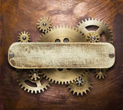 De collage van het uurwerkmechanisme Stock Afbeeldingen