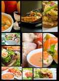 De collage van het voedsel Stock Fotografie