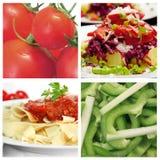 De collage van het voedsel Stock Foto's