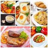 De collage van het voedsel Royalty-vrije Stock Afbeeldingen
