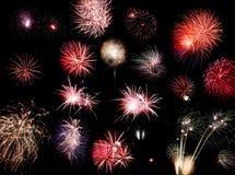 De collage van het vuurwerk Stock Afbeelding