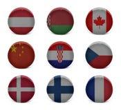 De collage van het wereldhockey (van A aan F) Royalty-vrije Stock Afbeelding