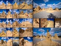 De COLLAGE van het zand. Stock Foto's