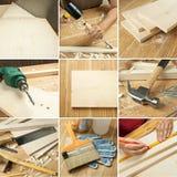 De collage van hulpmiddelen Stock Afbeeldingen