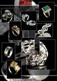 De collage van juwelen Royalty-vrije Stock Afbeelding