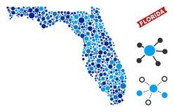 De Collage van de Kaartverbindingen van Florida vector illustratie